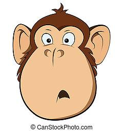 Surprised monkey illustration - Illustration of surprised...