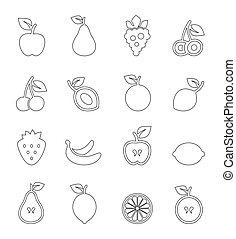 fruta, contorno