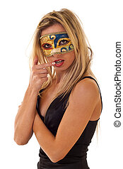 woman with carnival venice mask