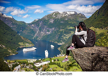 Geiranger fjord, Norway. - Geiranger fjord, Beautiful Nature...