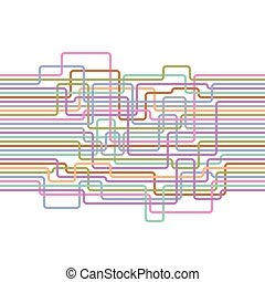 Lines abstract seamless pattern. Electric wire