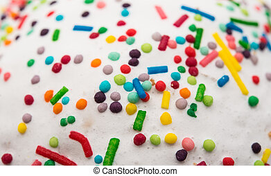 Multi-colored White Cake Pastry Sprinkles