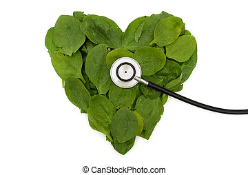 Heart Friendly Super Food Spinach - A pile of spinach...