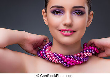 Nice woman with pearl necklace