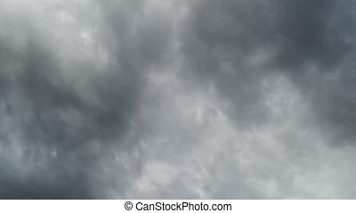 Clouds Moving in the Blue Sky White, rain, gray, haze, dark,...