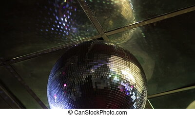 Disco ball at a nightclub.