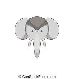 Indian elephant icon, black monochrome style - Indian...