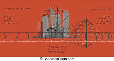 construction industry, infographics, vector, pattern,...