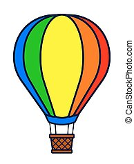 Vector illustration of colorful hot air balloon