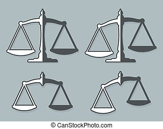 Vector design elements of weight scales justice - Vector...