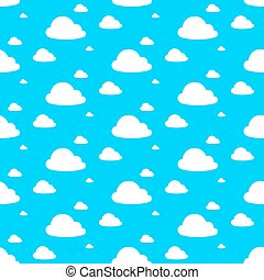 Seamless background of cloudy blue sky pattern