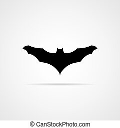 Bat black silhouette