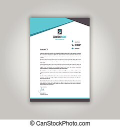 business letterhead 1008 - Business letterhead with a modern...