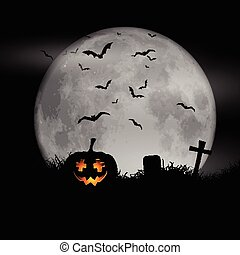 halloween moon background 0609 - Halloween background with...