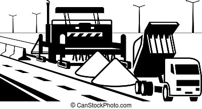 Concrete road pavement - vector illustration