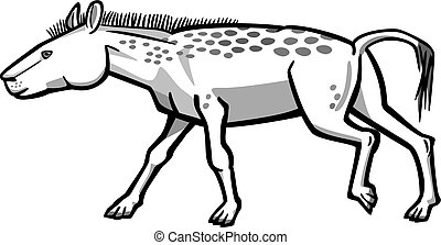 Dawn Horse - Illustration of a prehistoric ancestor of the...