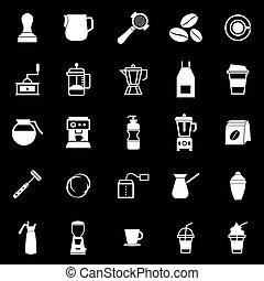 Barista icon on black background, stock vector