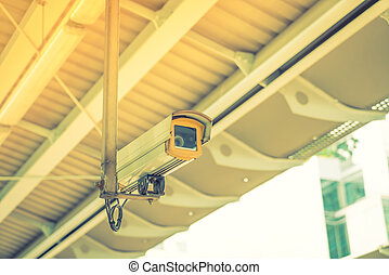 Security camera Filtered image processed vintage effect -...