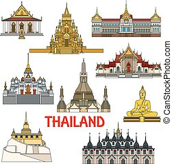 Historic buildings and sightseeings of Thailand - Historic...