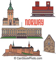 Historic buildings and sightseeings of Norway - Historic...