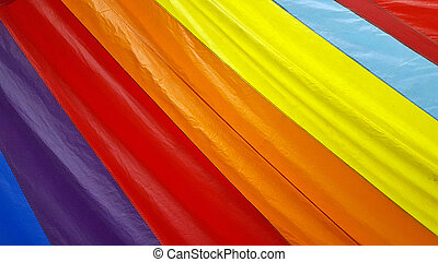colorful rainbow spinnaker - Close up of a colorful rainbow...