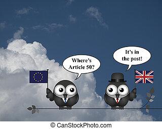 United Kingdom EU Article 50 - Comical European Union asking...