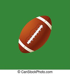 ball football - vector illustration american football