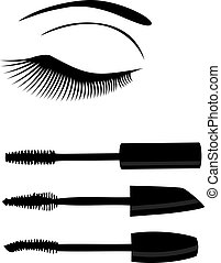 eye mascara - vector eye mascara