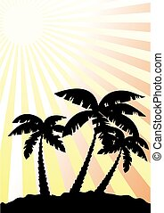palms - vector palm trees silhouetts