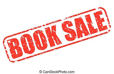 BOOK SALE red stamp text on white