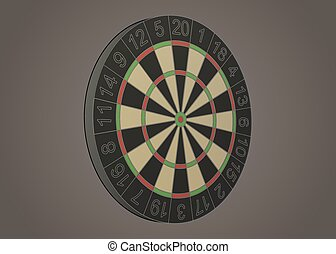 Darts board illustration