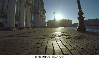 Palace Square in St Petersburg - RUSSIA, SAINT PETERSBURG,...