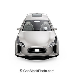 Front view of electric SUV car