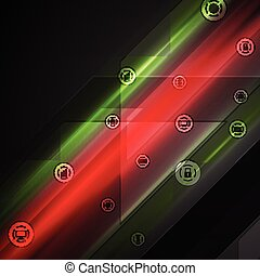 Bright tech comminication background