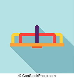 Playground equipment carousel icon, flat style