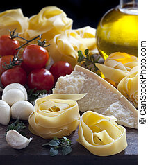 cibo, italiano, ingredienti