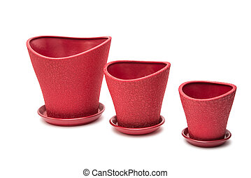 flower pot on a white background