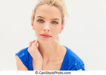 attractive young blonde woman