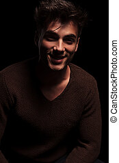 young attractive man laughing