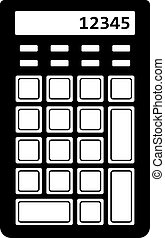 Numeric keypad with a calculator