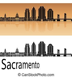 Sacramento V2 skyline in orange