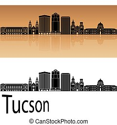 Tucson V2 skyline in orange - Tucson skyline in orange...