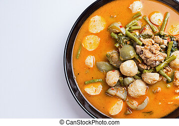 Hot curry with meat ball