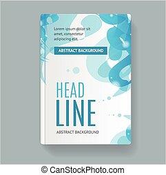 Book Flyer Placard Template. Vector