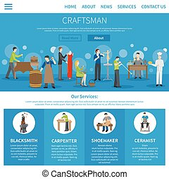 Craftsman Flat One Page - One flat craftsman internet page...