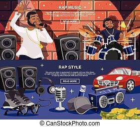 Rap Music Banner Set