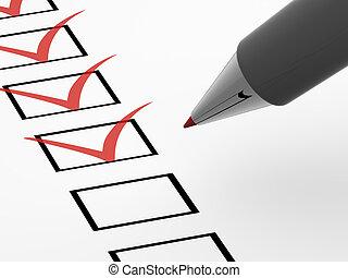 The questionnaire 3d