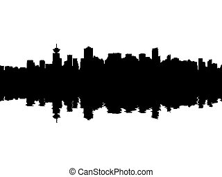 Vancouver Skyline reflected