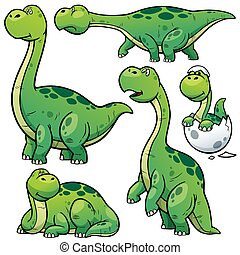 Dinosaurs - Vector illustration of Dinosaur Cartoon...