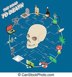 Drugs Isometric Flowchart - Drugs isometric flowchart with...